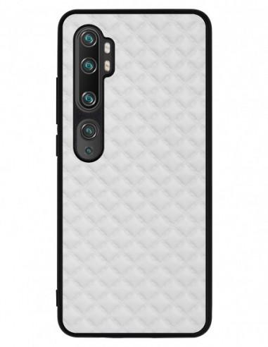 Etui premium skórzane, case na smartfon XIAOMI REDMI 9C PRO. Pik biały mat
