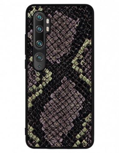 Etui premium skórzane, case na smartfon XIAOMI REDMI 9C PRO. Gold snake