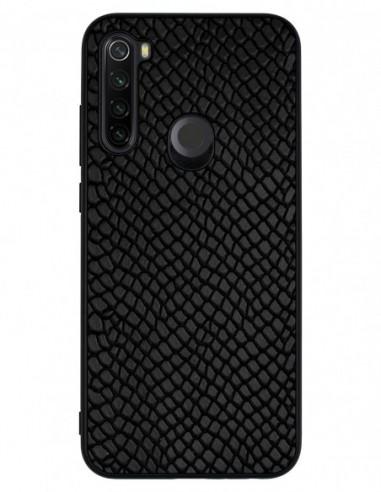 Etui premium skórzane, case na smartfon XIAOMI REDMI NOTE 8T. Iguana czarny